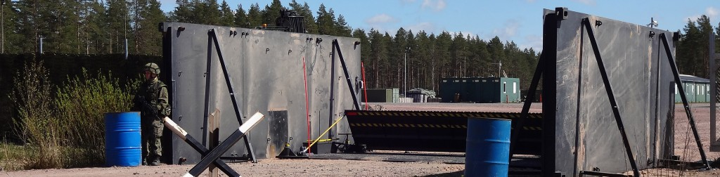 Balpro Hydraulic Road Barrier is being tested by Finnish Defense Forces